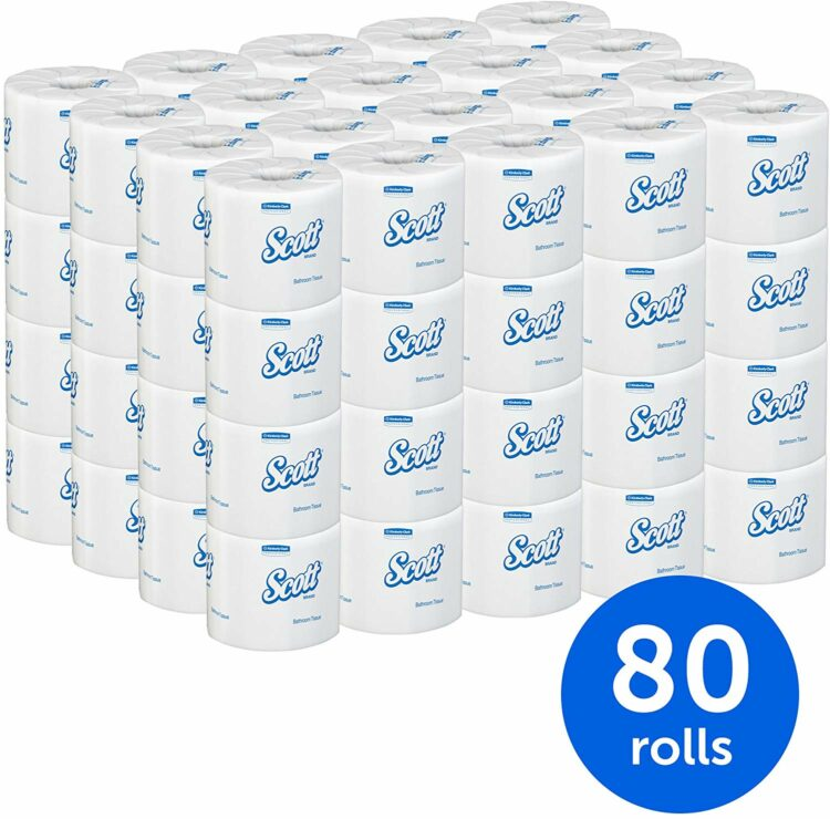 80 roll package of toilet paper