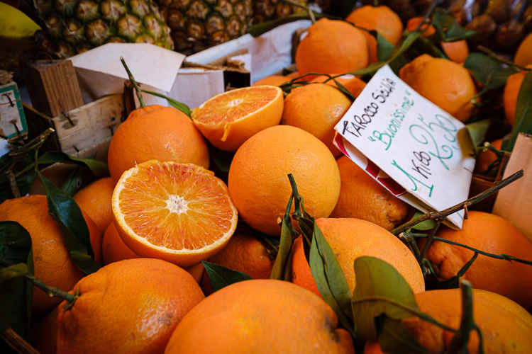 oranges for sale at the market