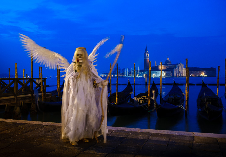 angle of death costume at blue hour