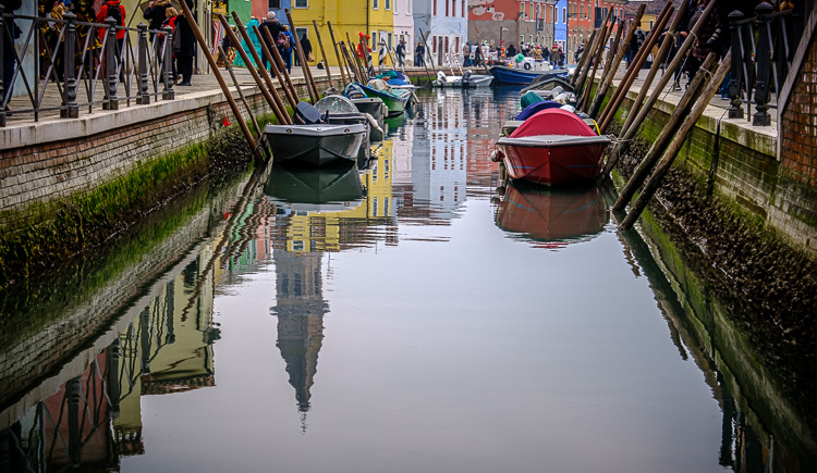 Reflection in the canal in Burano