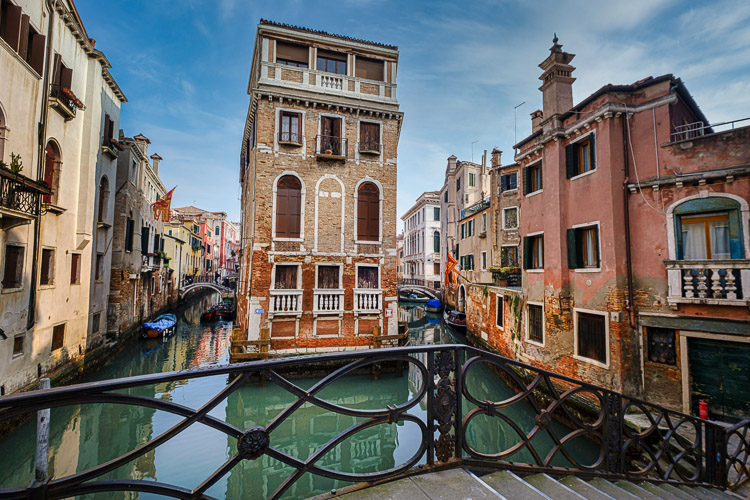 canals and bridges in venice italy