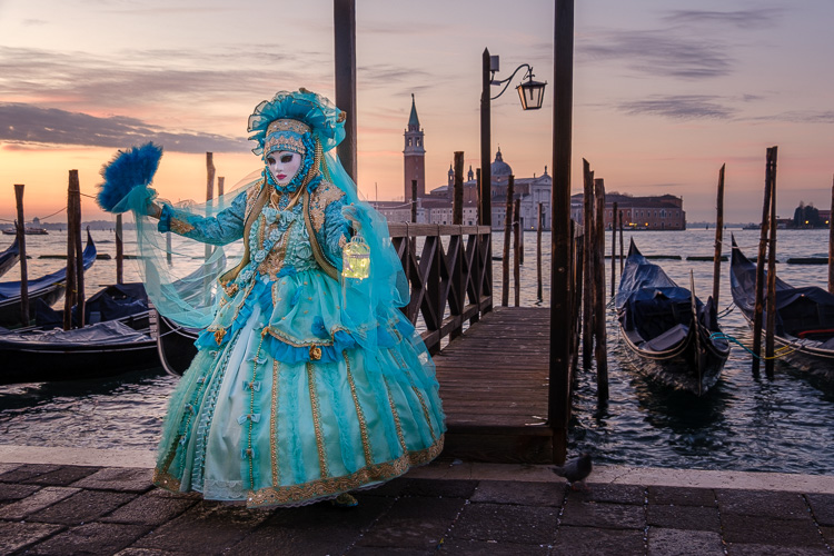 on the dock in St Marks square at sunrise