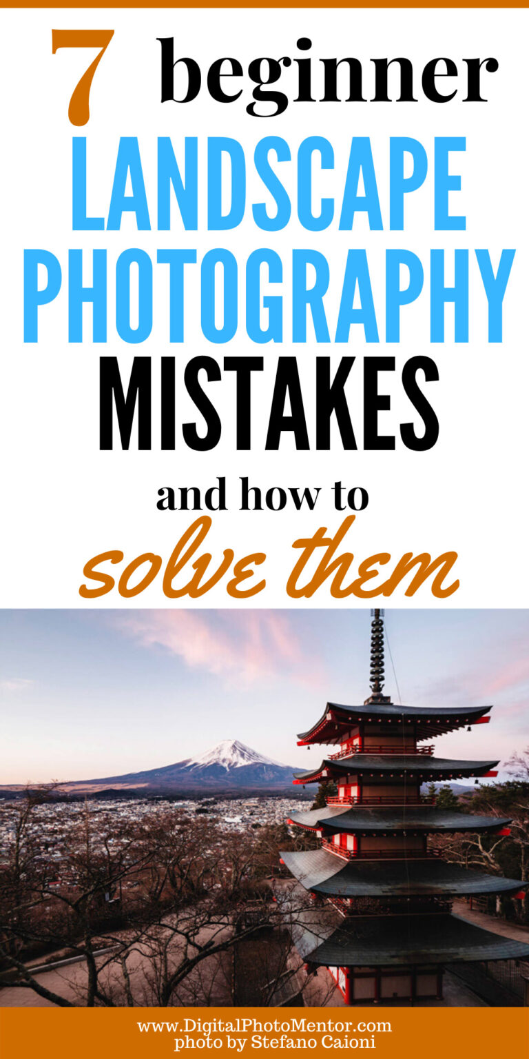beginner landscape photography mistakes