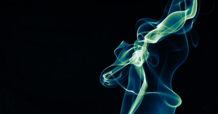 creative smoke photography examples with grey and colored smoke