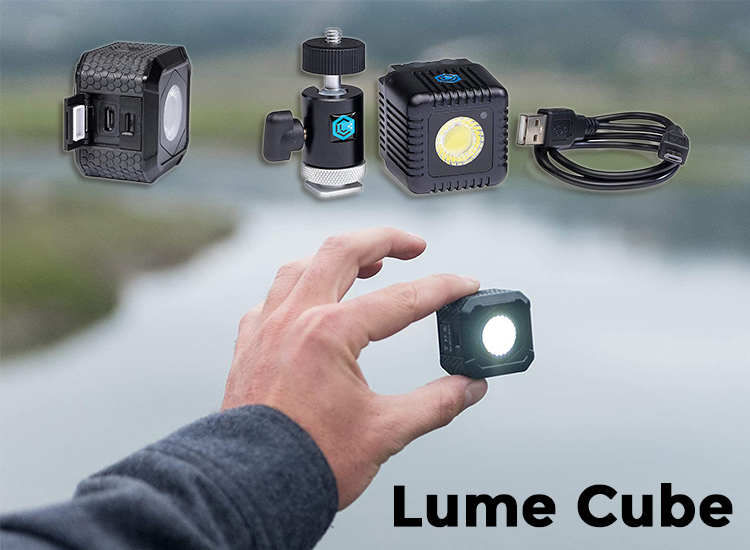 lume cube is a lightweight rechareable LED light for light painting or otherwise lighting your scene