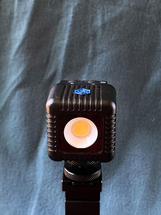 lume cube on tripod for lighting your subject