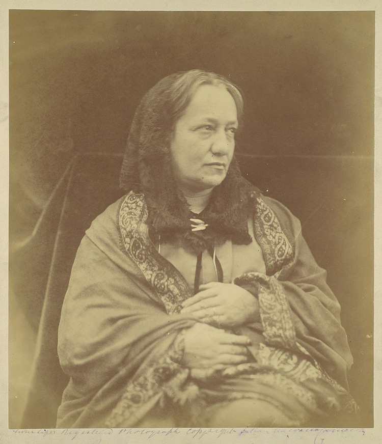 historical sepia tone photo of portrait photography master Julia Margaet Cameron