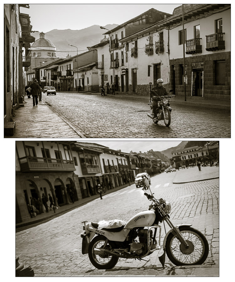 motorcycles photographed in Peru during current times