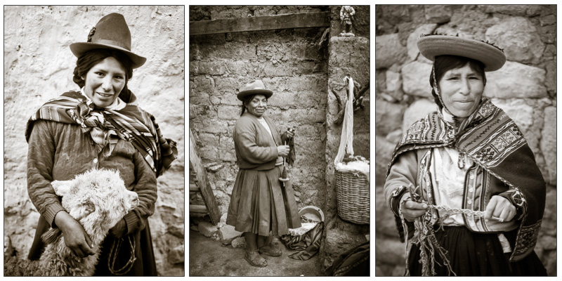 portraits of Peruvian peoples taken recently by Darlene Hildebrandt