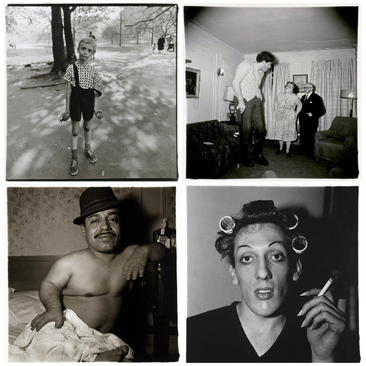 a collection of Diane Arbus famous photos of marginalized people