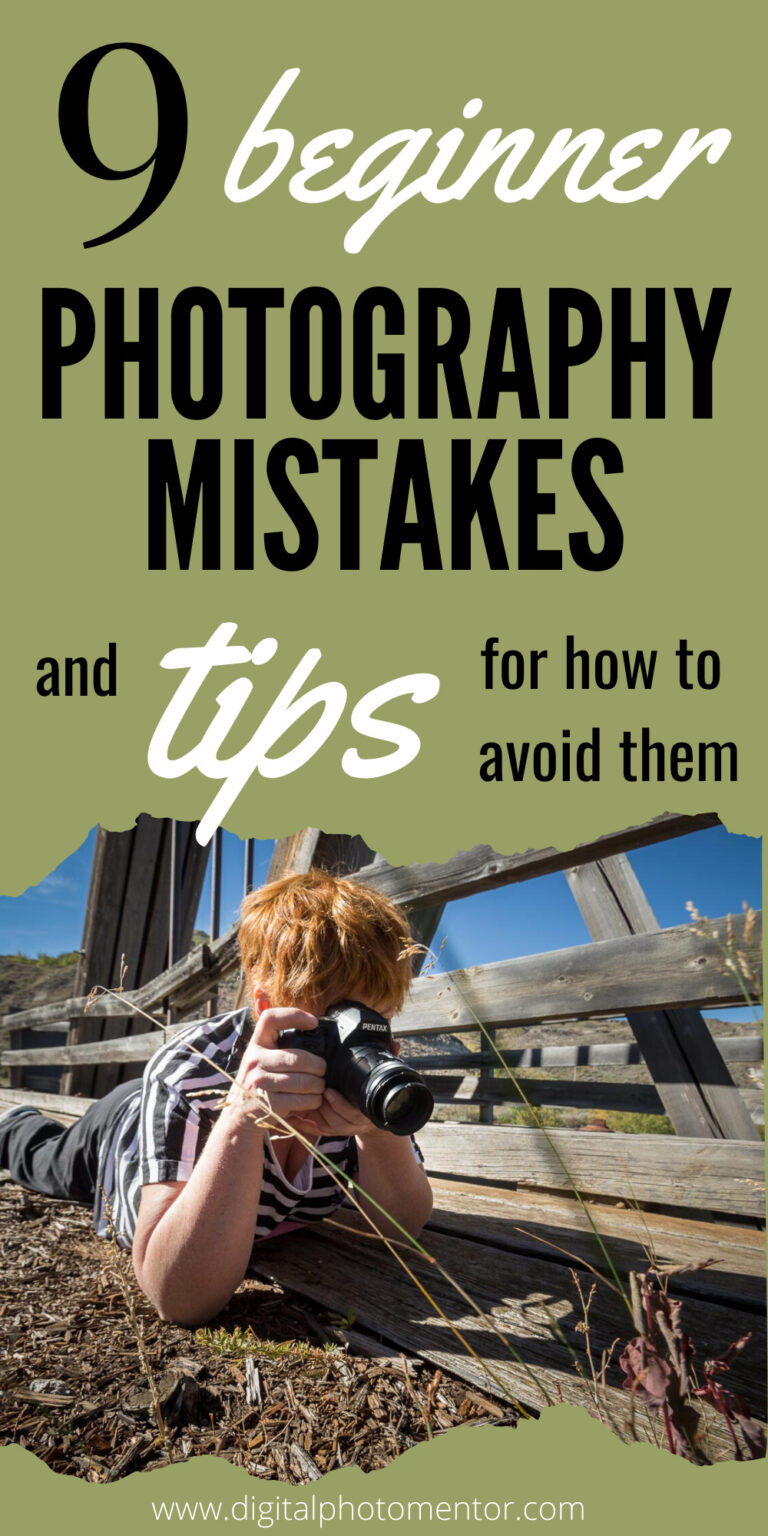 beginner photography tutorial with tips for how to avoid mistakes