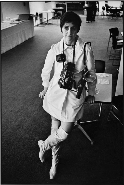 portrait photographer Diane Arbus with camera