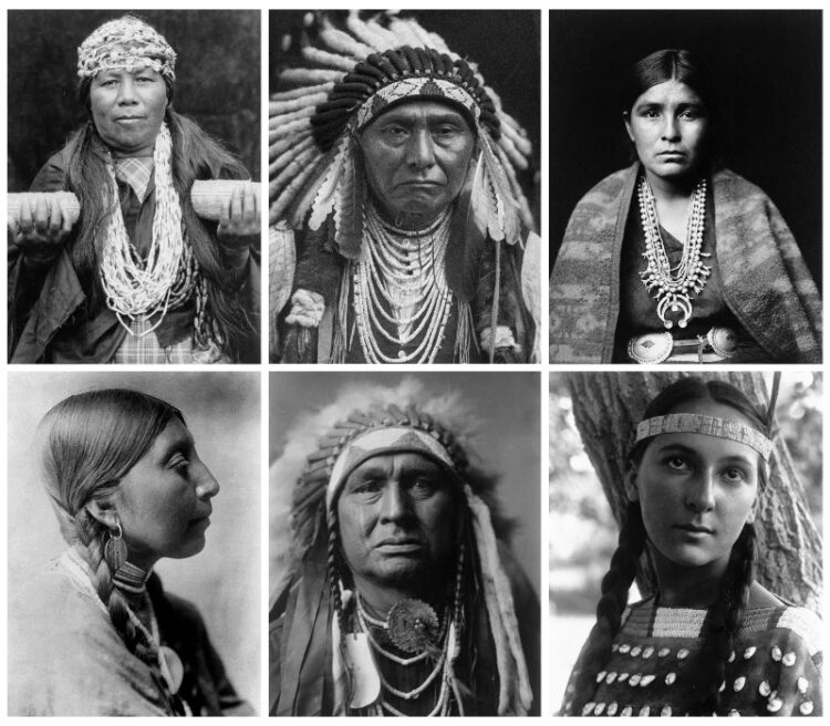 a collection of portraits of native american indians taken by Edward S. Curtis