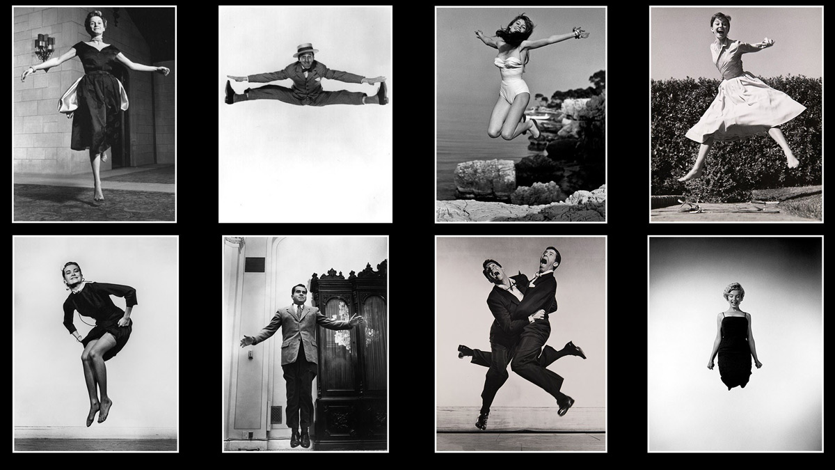 a selection of Philippe Halsman's jumping portraits