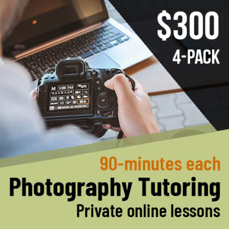photography tutoring 4 pack special