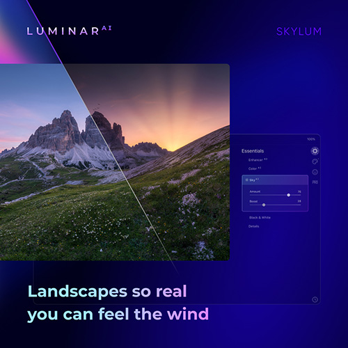 Luminar AI photo editing banner