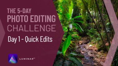 Luminar AI tutorial photo editing challenge