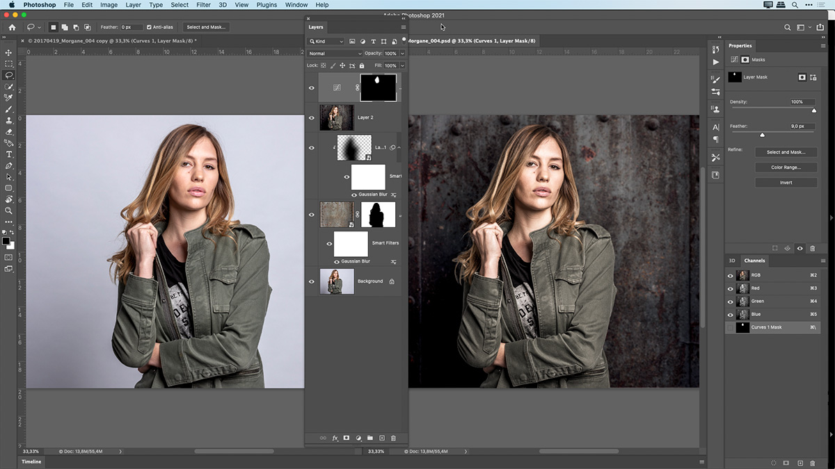 how to replace a background using layers in photoshop
