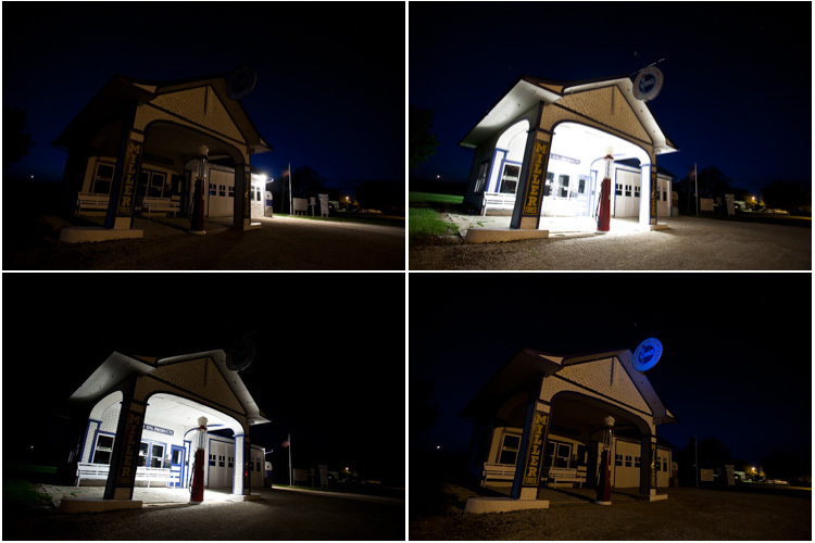 contact sheet - Historic gas station route 66 light painting contact sheet