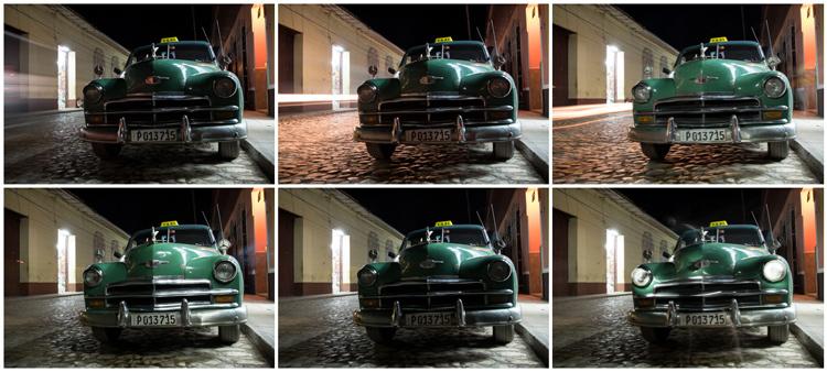 light painted Classic cuban car contact sheet