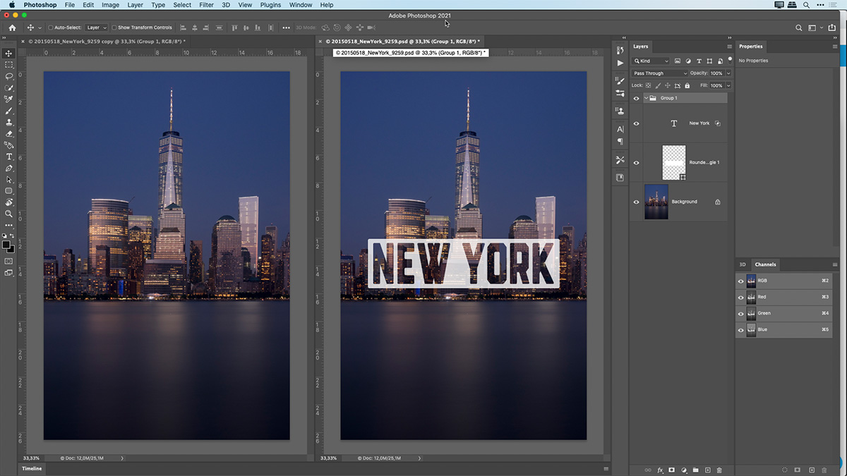 Using the type tool creatively in Photoshop