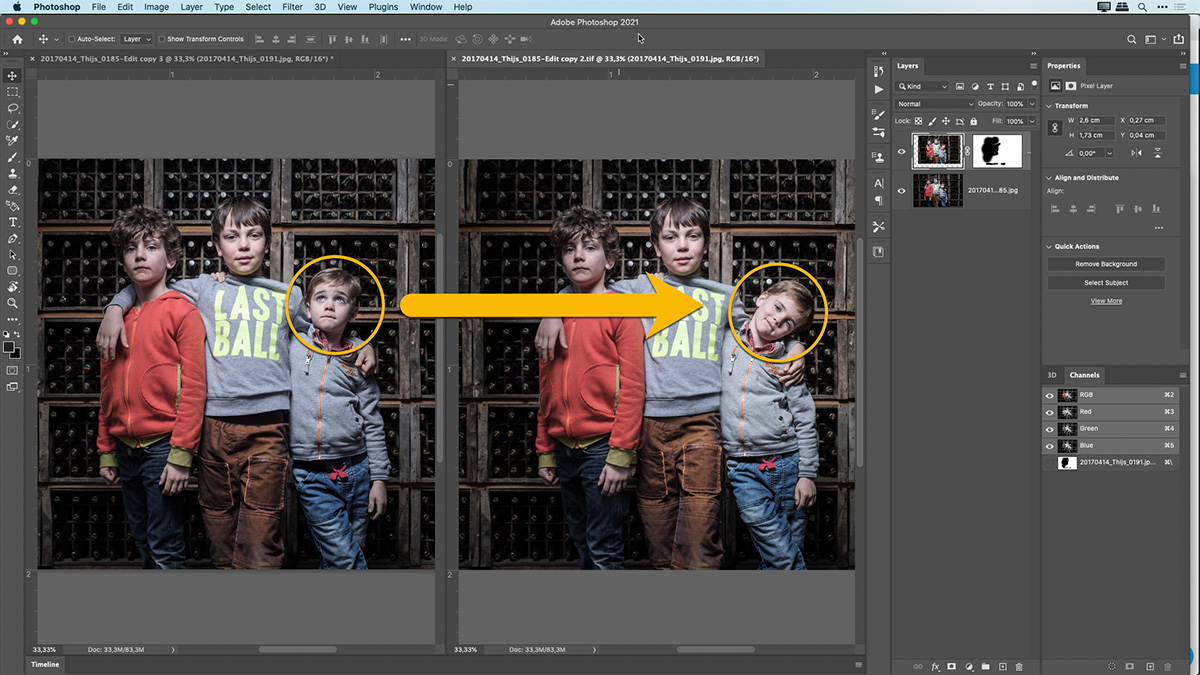 How to do a head swap or replacement using two photos into one