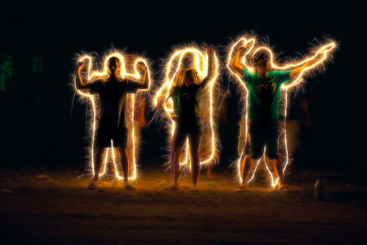 light painting example