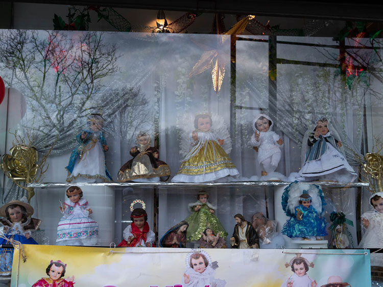Doll display in window before adding clarity and contrast edits